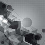abstract gray polygon background