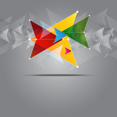 multicolored arrow background design