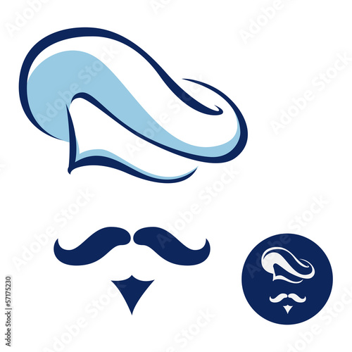 Chef with moustache icon