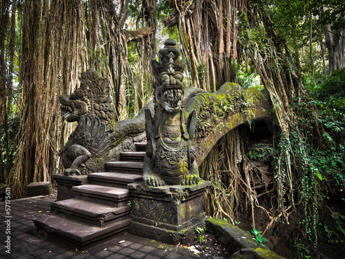 Foto op Plexiglas Indonesië Dragon Bridge at the Monkey Forest Sanctuary in Ubud