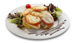 grilled chicken with melted cheese and vegetables_1