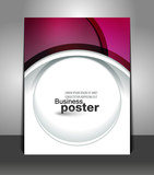 Graphic design elegant of business poster