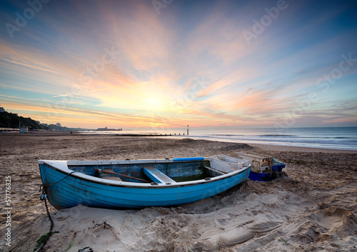 Foto op Aluminium Noord Europa Fishing Boat at Sunrise