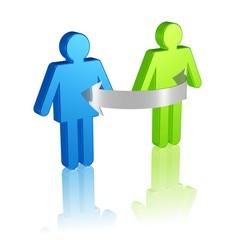 Austausch von Personen oder Informationen