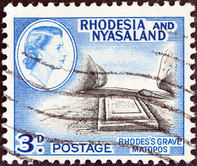 Cecil John Rhodes grave, Matopos (Rhodesia and Nyasaland 1959)