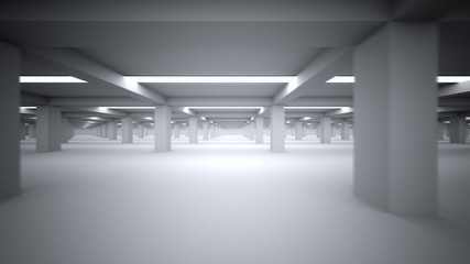 Underground parking repeatly moving -Side