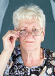 portrait of grandmother in glassess