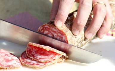 tasty sausage slices to fill a sandwich