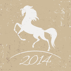 New Year symbol of horse - vector illustration