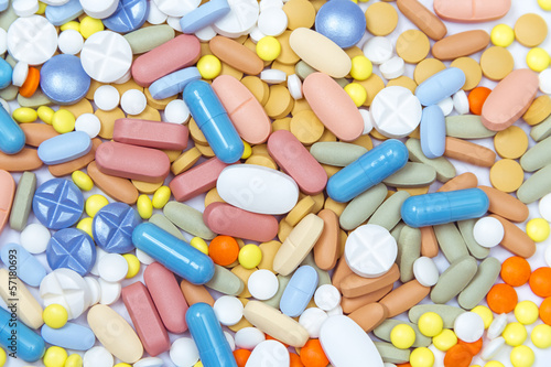 Pills and Capsules Background