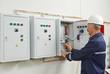 Senior adult electrician engineer worker - 57180805