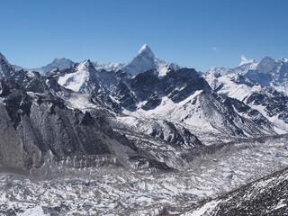 Ama Dablam Seen from Kala Patthar in Nepal