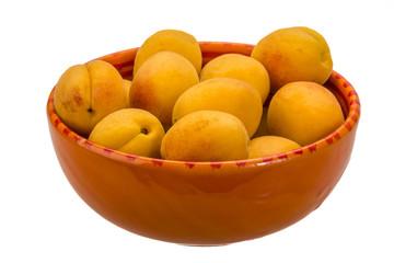 Yellow ripe apricots