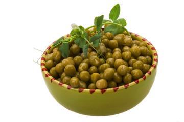 Marinated green peas