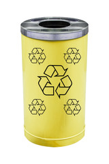 recycle yellow bin