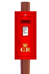 Post Mounted Post Box.
