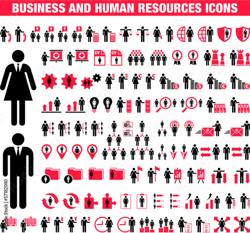 Business and Human Resources icons