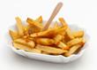 Pommes frites in Porzellanschale
