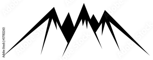 illustration of mountains on white background
