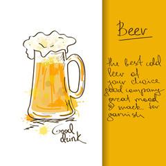 Illustration with beer mug