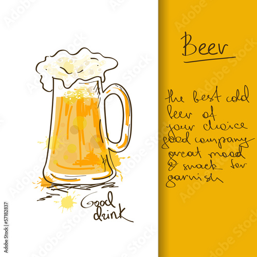 Illustration with beer mug © Annykos