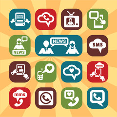 color communication icons