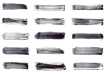 Grunge stripes. Set 15 in 1