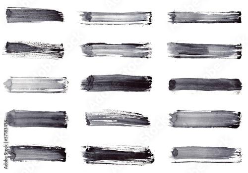 Papiers peints Forme Grunge stripes. Set 15 in 1