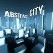 Abstract city in 3d model of downtown