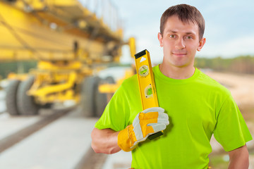 a worker with costruction level