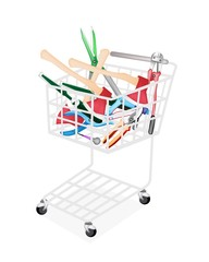 Various Craft Tools in A Shopping Cart