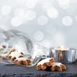 zimtsterne mit teelicht und silberbokeh