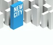 3d new city conceptual model of downtown