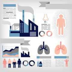 info-graphics of pollution