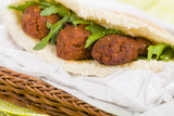 Kofta Kebab - Minced meat kebabs in a pita bread.