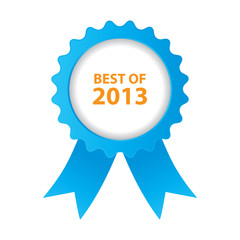 blue best of 2013 badge with ribbon