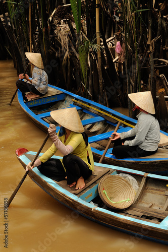 mekong delta - typical boats