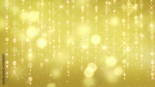gold shining hanging circles and glares loop