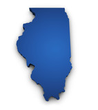 Map Of Illinois 3d Shape