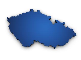 Map Of Czech Republic 3d Shape
