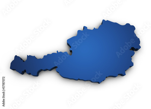 Map Of Austria 3d Shape