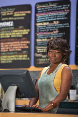 Woman at Cash Register