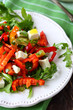 salad with fresh bell peppers and feta