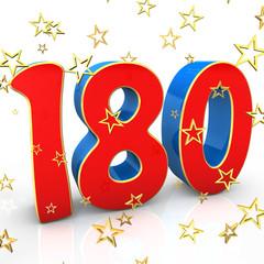 180 Years Old - Happy Birthday