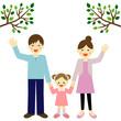 散歩する親子 / parent and child