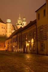 Kanonicza street in Old Town and Wawel castle, Krakow