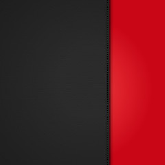 black leather background panel on red