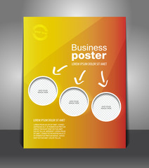 Vector design color flyer with place for image, magazine cover