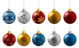 Fototapety set of christmas balls