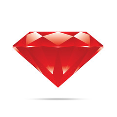 popular red diamond isolated realistic high quality elements vec